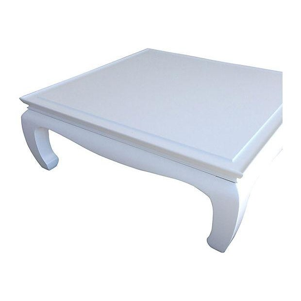White Lacquered Ming Coffee Table - Image 2 of 5