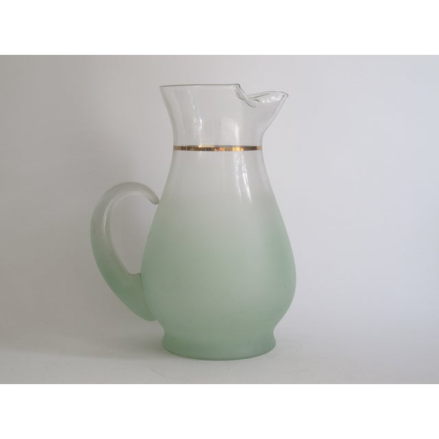 Green Glass Entertaining Pitcher & Glasses - Set of 5 - Image 5 of 6
