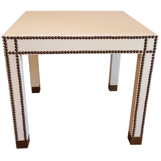 Vann Leather Side Table