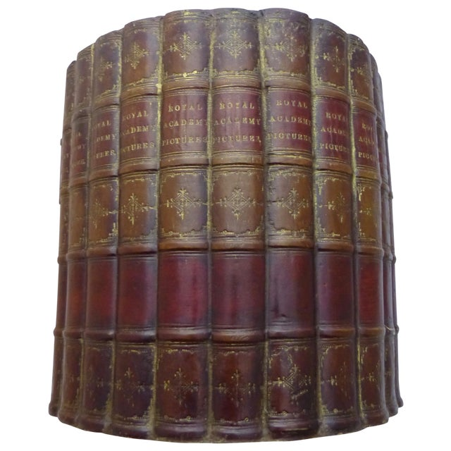 Original Bookworks Library Waste Basket Faux Book - Image 1 of 8