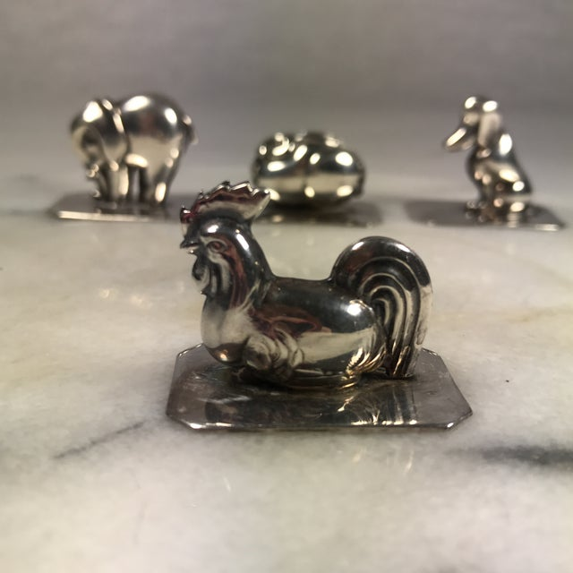 Portugal Silver Animal Place Card Holders - Set of 4 - Image 5 of 10