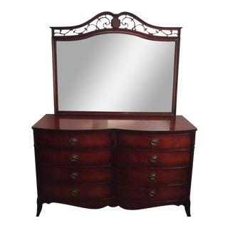 Drexel Mahogany Vintage Bureau With Mirror