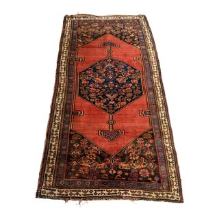 "Antique Persian Bidjar Rug - 3'7"" x 7'"
