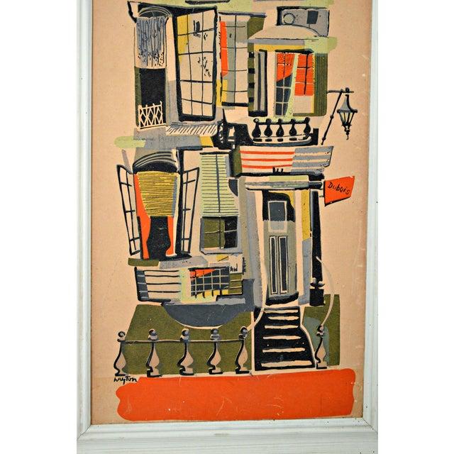 Urban View: Mid-Century New York Urban View Painting