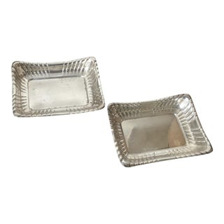 1941 Vintage Reed & Barton Sterling Dresser Trays - a Pair