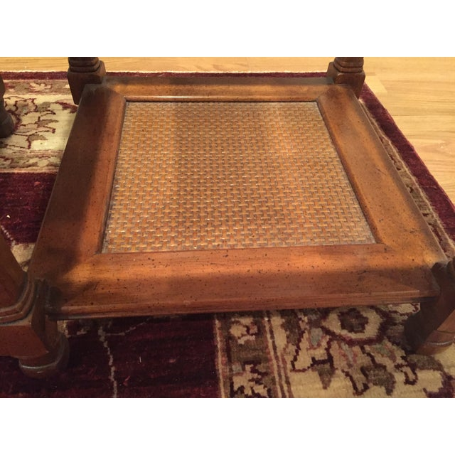 Wood & Glass Side Tables - A Pair - Image 3 of 6