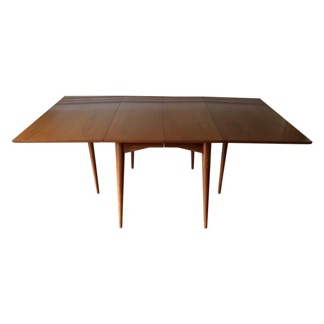 Mid-Century Expandable Drop Leaf Dining Table - Image 1 of 9