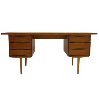 Excellent Sleek and Functional Arne Vodder Teak Desk with File Drawer
