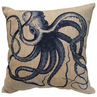 Octopus Print Pillow