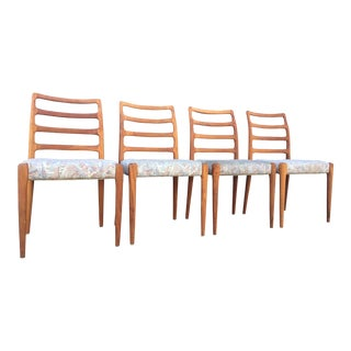 Danish Modern Ladder Back Chairs in Teak - Set of 4