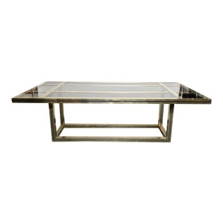 Romeo Rega Large Mixed Metal Dining Table, Signed