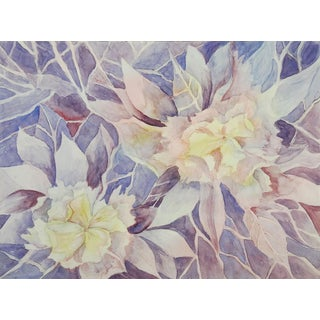 2 Paintings in 1 Floral Abstracts