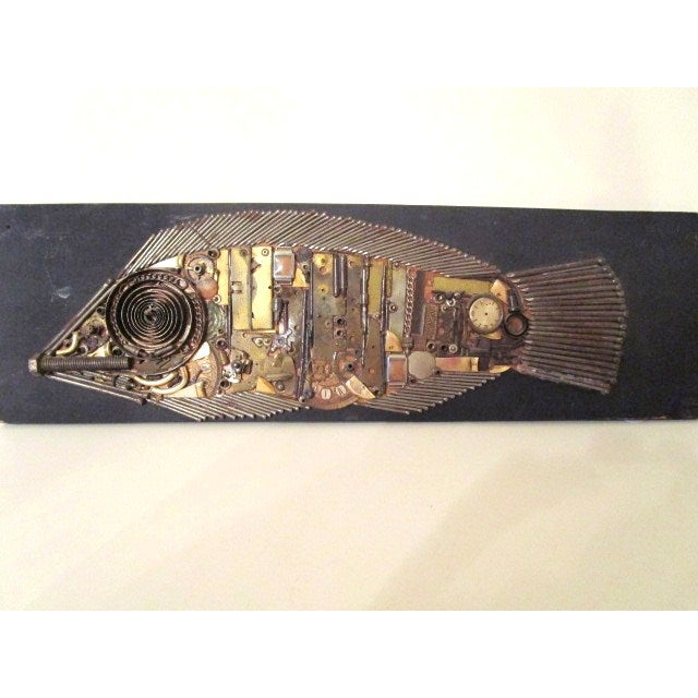 Image of Industrial Fish Collage Sculpture