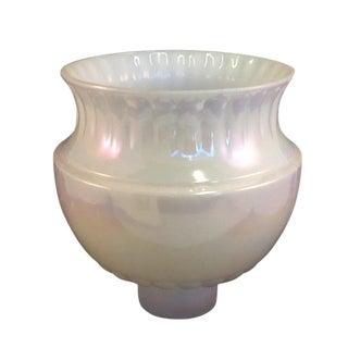 Vintage Irridesent Milkglass Lamp Globe