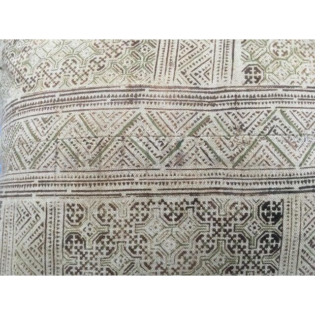 Hand Loomed Tribal Batik Textile Pillow - Image 5 of 7