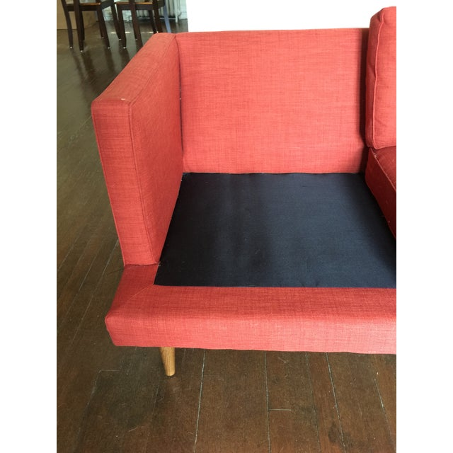 Red West Elm Couch Chairish