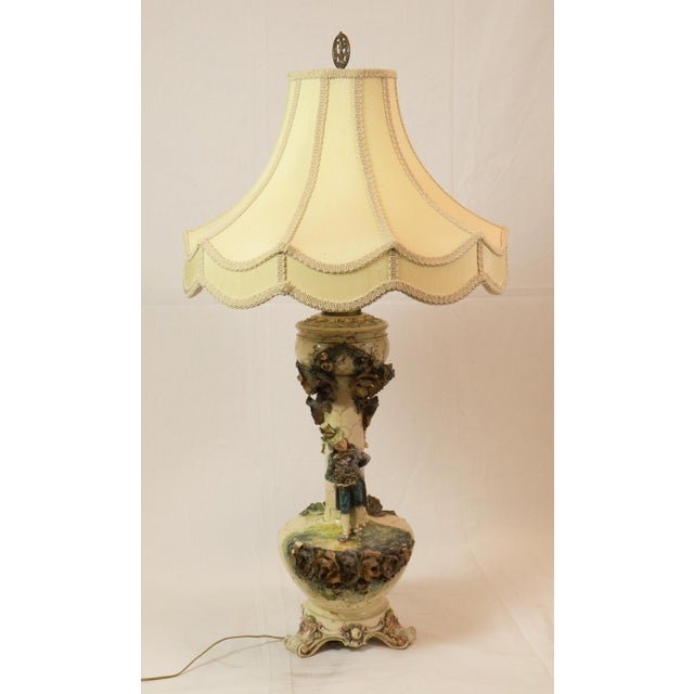 Majolica French Pottery Lamp - Image 2 of 8