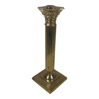 Brass Column Candle Holder