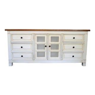 Lexington Rustic Farmhouse Off White & Brown Wax Dresser
