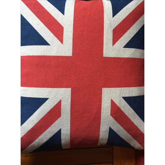Vintage British Union Jack Flag Pillow - Image 5 of 5