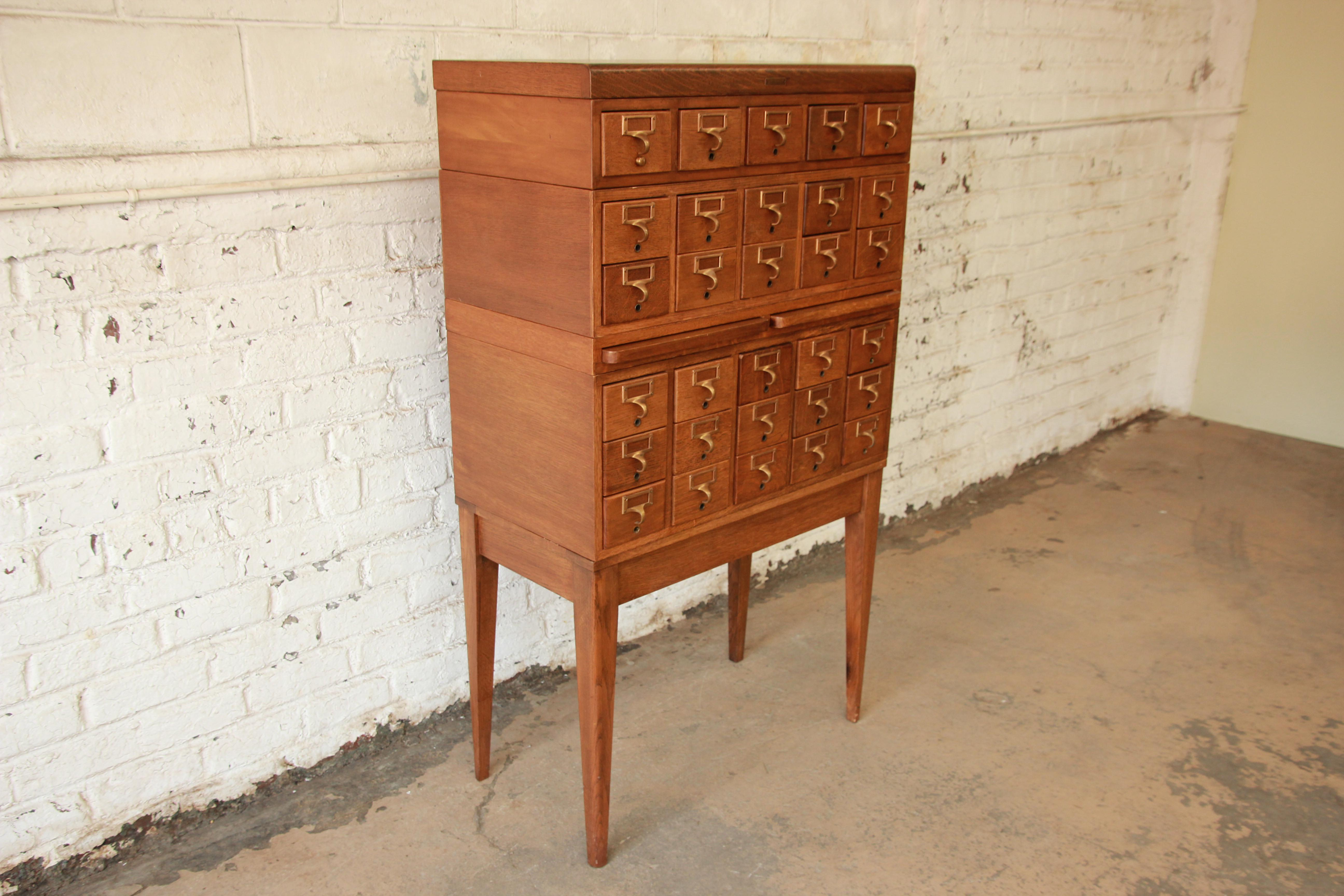 how to make a card catalogue cabinet