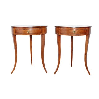 Pair of Early 19th Century Walnut Gueridons