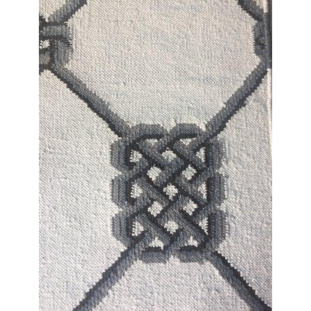 "Knot Motif Diamond Wool Runner Rug - 2'7"" X 7'11"" - Image 4 of 5"