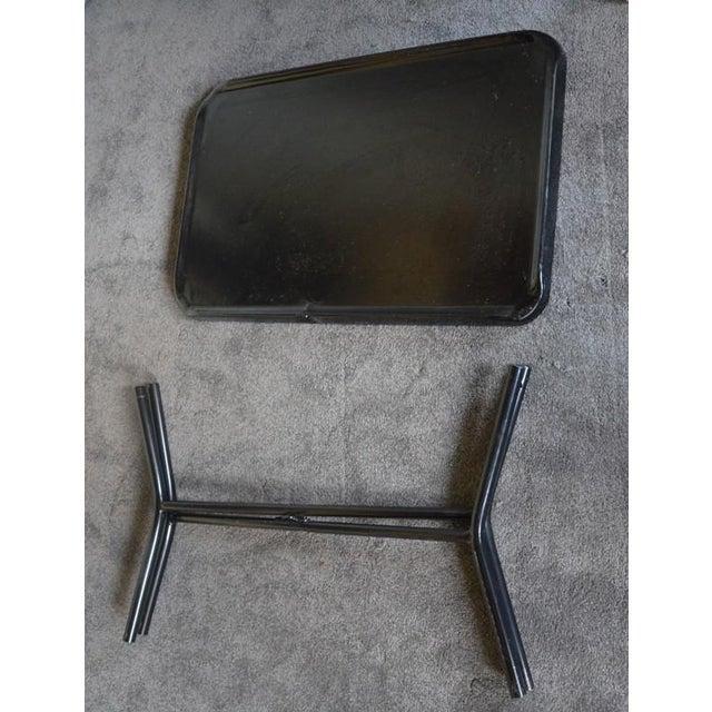 Russel Wright Black Metal Tray Table - Image 7 of 7