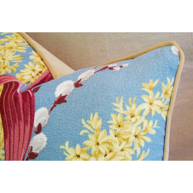 Image of Tropical Floral Barkcloth Feather/Down Pillow