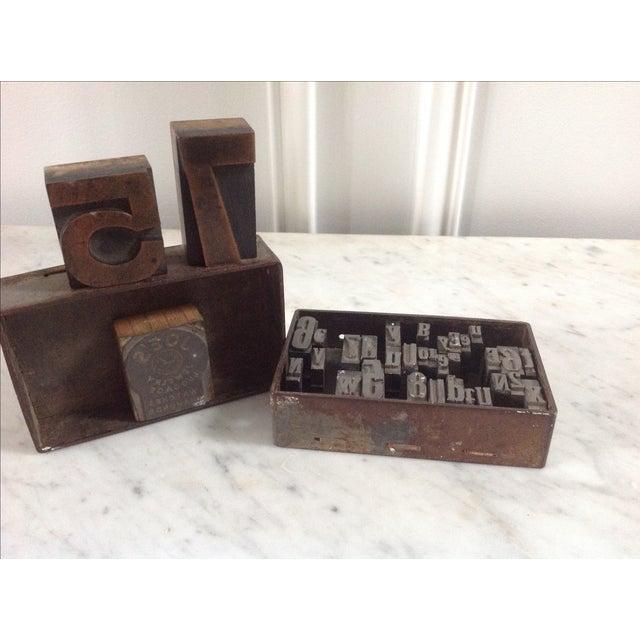 Vintage Industrial Letterpress Blocks - Set of 34 - Image 4 of 8