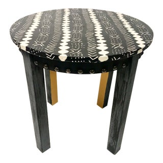 Tribal Print Accent Table