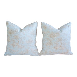 French Blue & White Toile Pillows - a Pair