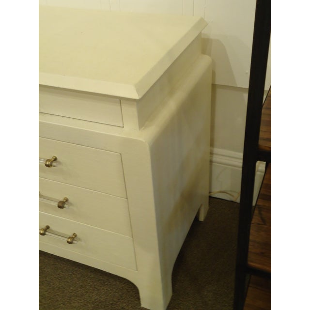 Image of Karl Springer Style Linen Wrapped Chest
