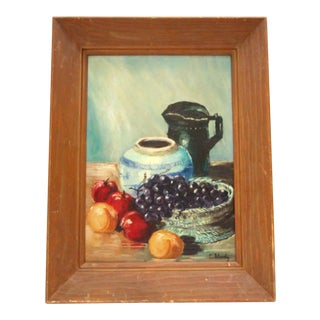 Vintage Oil Painting Tablescape