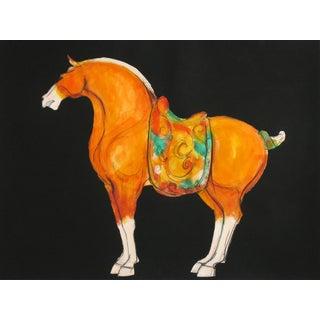 Tang Horse Orange II Painting by Heidi Lanino
