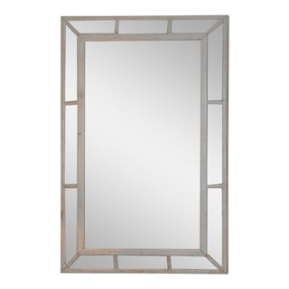 Grey Painted Paneled Mirror