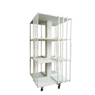 Revolving French Countryside Bookcase