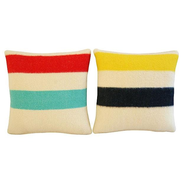 Authentic Hudson's Bay Blanket Pillows - a Pair - Image 7 of 7