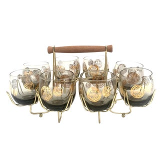 Low Ball Glasses with Caddy - 9
