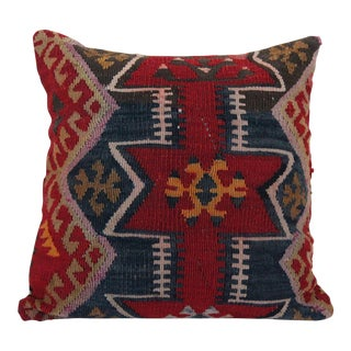 Antique Oriental Kilim Rug Pillow