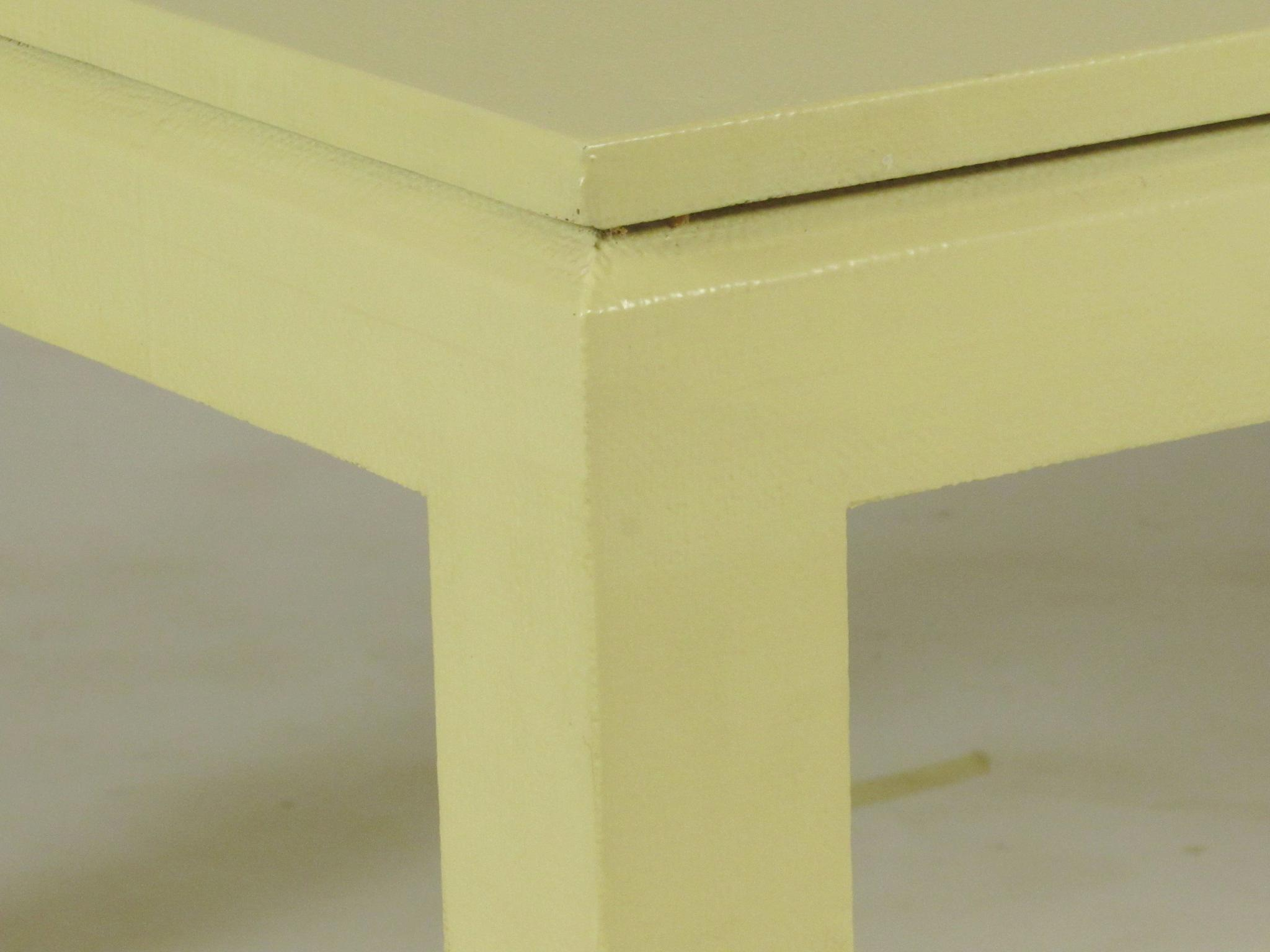Custom Linen Wrapped Coffee Table   Image 7 Of 8