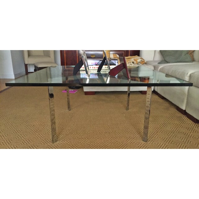 Image of Design Within Reach Glass Coffee Table