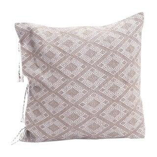 Ecru Diamonds Handwoven Pillow