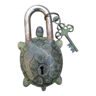 Bronze Turtle Mystery Lock