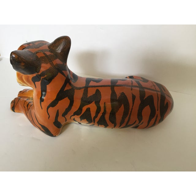 Stunning Italian Ceramic Tiger - Image 6 of 8