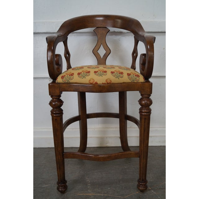 Minton Spidell Empire Style Burgess Barstools - Set of 3 - Image 5 of 10