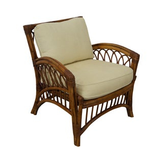 Maine Cottage Rattan Bamboo Lounge Chair