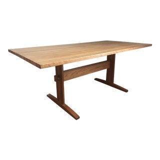 Solid Wood Trestle Dining Table