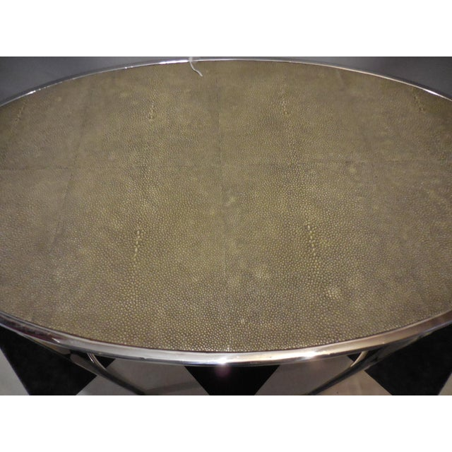 Theodore Alexander Oval Shagreen Top Table - Image 5 of 6
