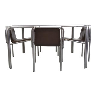 Claire Bataille Modern Chrome Dining Set